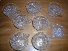 Vintage Anchor 7 Punch Cups with 7 Plastic Hangers Set Party Special Occ... - $24.74