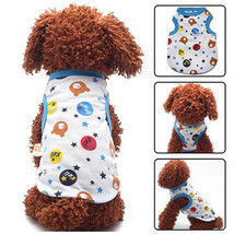3 Color Cartoon Print Pet Costume Dog Cat Sleeveless Coat Vest Clothes F... - $5.71