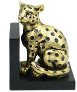 """Gold Resin Leopard Bookend, 5.7"""" - $79.19"""