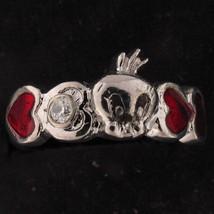 RING Tweety Bird WARNER BROS LOONEY TUNES .10 tcw CZ Silver Red HEART WB... - $29.69