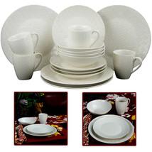 Elama Ivory Terrace 16 Piece Textured Dinnerware Set - $78.48