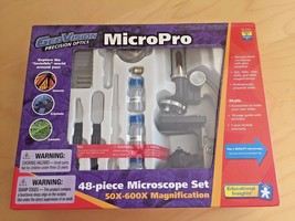 Microscope Set GeoVision MicroPro Precision Optics 48 Piece NIB Science Lab - $25.73