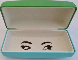 Kate Spade Glasses Case Apple Green with Aqua Hard Case with Peek a Boo ... - $21.78