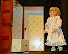 12 inch Porcelain Doll with her Own Closet AA-191991  Collectible image 4