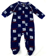 New York Giants Infant Coverall NFL Football Baby Full Footed Sleeper Pa... - £14.07 GBP