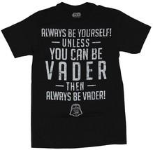 Star Wars Darth Vader Unless You Can Be Vader Men's LG  Black Cotton T-S... - $14.97