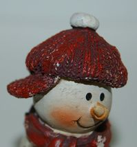 Delton Products 5007 4 Fine Collectibles Snowman Shelf Sitter 2 Set Red Scarf image 5