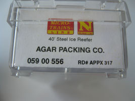 Micro-Trains Stock #05900556 Agar Packing Co 40' Steel Ice Reefer N-Scale image 5