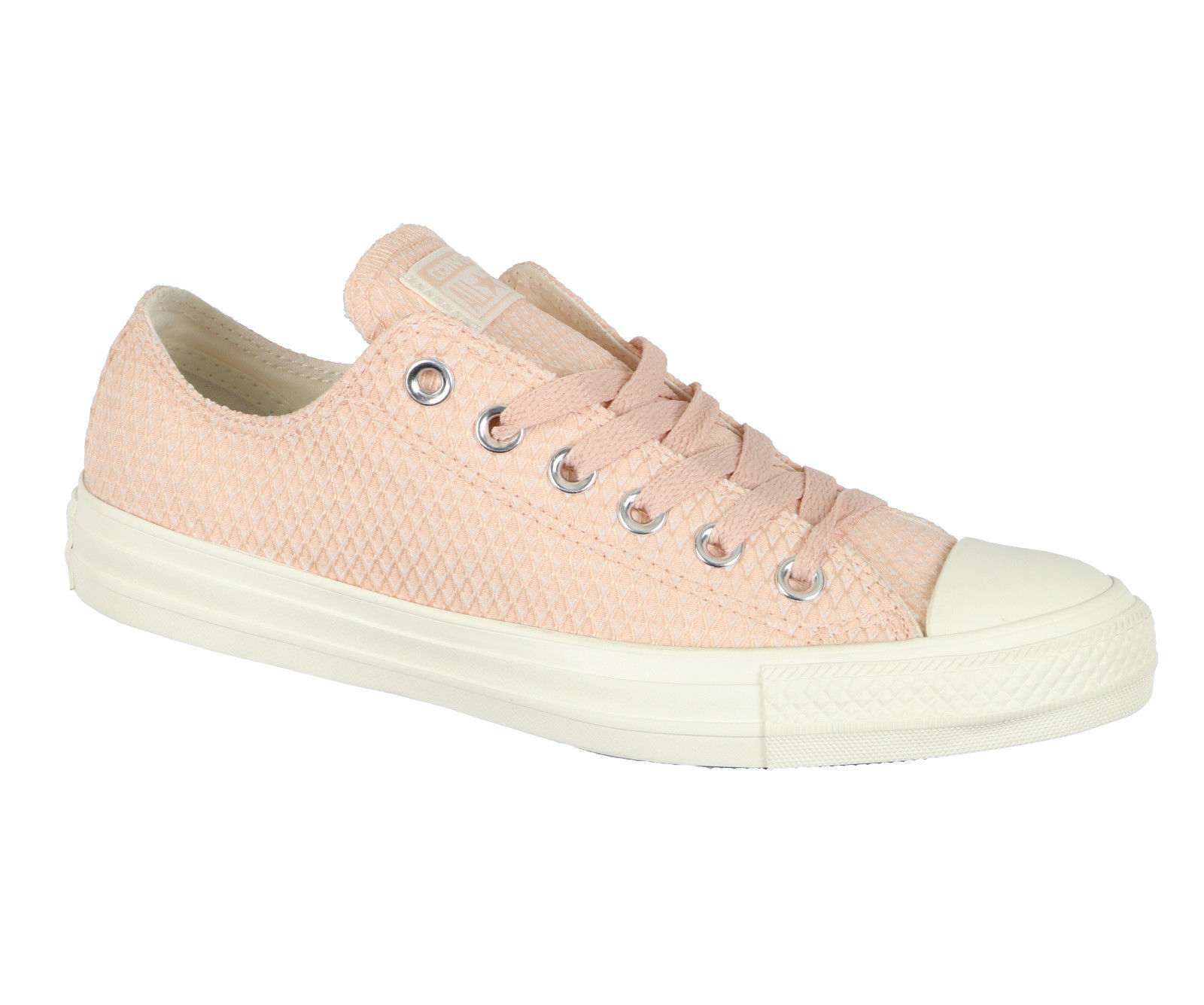 CONVERSE Women's Chuck Taylor All Star OX Low sz 7 Dust Pink Beige Textile