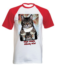 MOODY CAT SELFIE - NEW COTTON BASEBALL TSHIRT ALL SIZES - $26.49