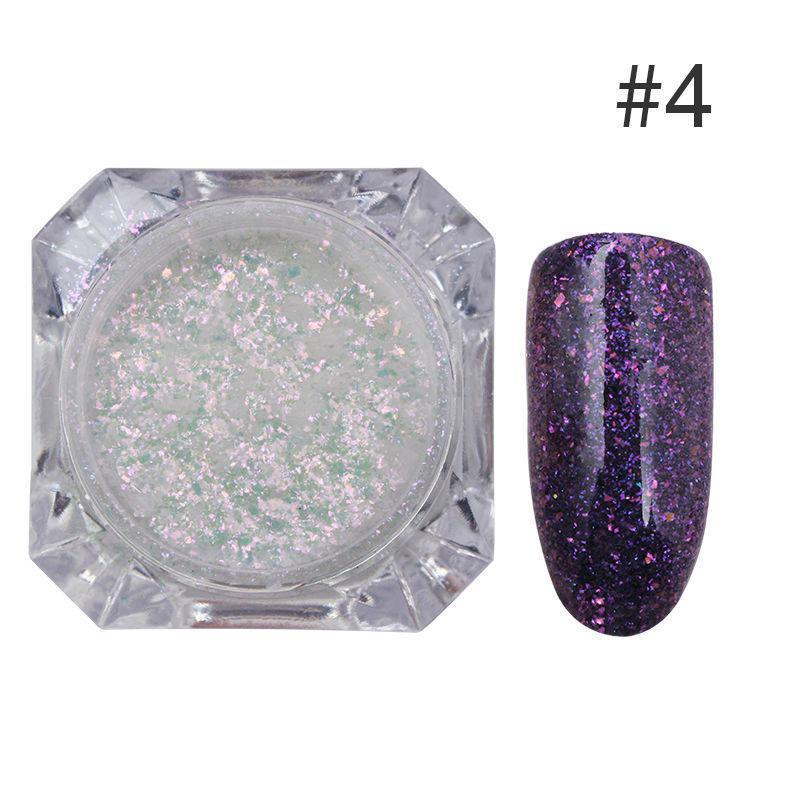 Nail Glitter Sequins Powder Flakes Chrome Nail Art Manicure Pigment Decoration