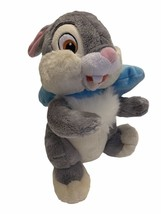 "Disney Store Thumper 12"" Plush Bambi Bunny Oversided Blue Bow CUTE! - $14.84"