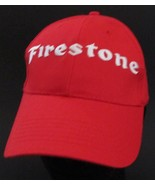 Firestone Red Baseball Cap Hat Cars Mechanic Embroidered Adjustable Snap... - $16.82