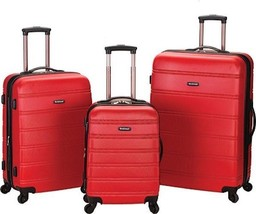 Rockland Melbourne 3 Piece Luggage Set $480 - NEW - FREE SHIPPING - in Red - $184.09