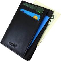 Leather Slim Wallet, Minimalist Front Pocket RFID Blocking Card Holder Mad - $24.54