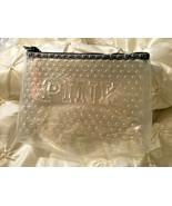 Victoria's Secret PINK Clear glitter  makeup cosmetic bag zipper NEW - $12.19