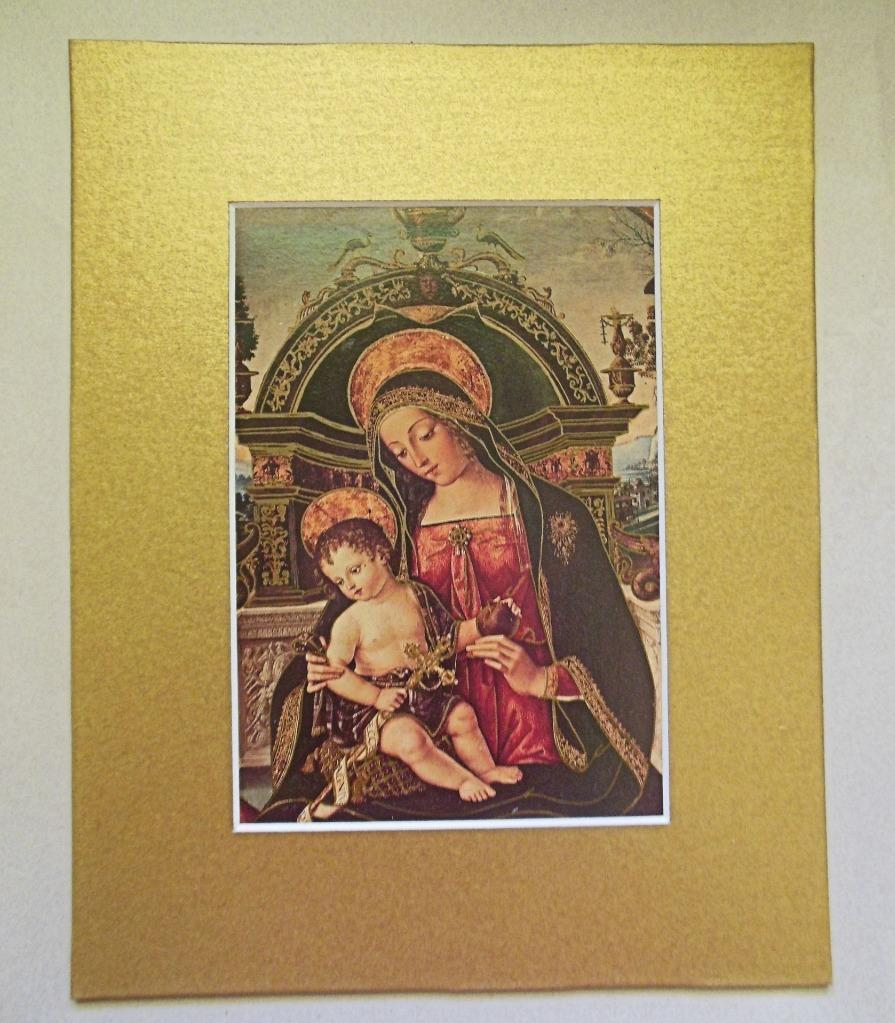 Madonna and Child  Matted Print 8 x 10 Pintoricchio