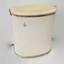 Vtg Detecto NY Clothes Hamper Laundry Basket Can Starburst Cream Mid Cen... - $98.97