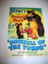 Walt Disney Donald Duck Dumbell of The Yukon Cartoon Movie Poster Postca... - $11.87