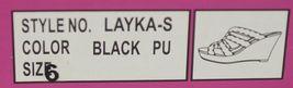 City Classified Layka S Black Sandal Wedge Heel Size Six image 9