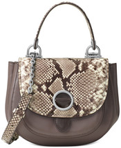 New Michael Kors Women Isadore Python Embossed Messenger Bag Msrp$398 - $264.59
