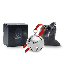 Wallace 2019 Silver-Plate Sleigh Bell-49th Edition (2019 49th Edition|Me... - $54.16