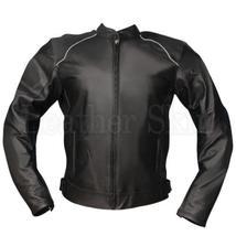 Black Jacket Biker Leather Jacket - $300.00