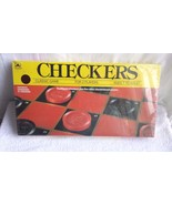 GOLDEN  CLASSIC CHECKERS GAME BOARD 1989  / NEW - $9.49