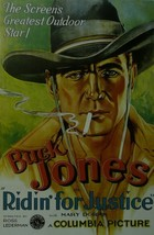 Ridin for Justice - Buck Jones - Movie Poster - Framed Picture 11 x 14 - $32.50