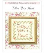 Follow Your Heart Elizabeth's Designs Cross Stitch Pattern Leaflet - $4.47
