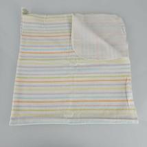 Circo Flannel Receiving Blanket White Yellow Orange Green Gray Stripe Cotton  - $14.84