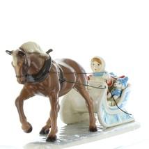 Hagen Renaker Specialty Horse Drawn Sleigh Ceramic Figurine