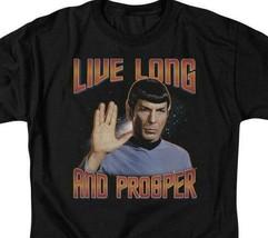 Star Trek Retro Sci-Fi Spock Live Long and Prosper graphic t-shirt CBS114 image 2