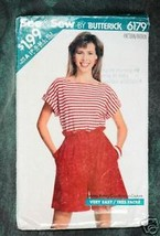 See & Sew by Butterick Misses' Top & Shorts - $1.75