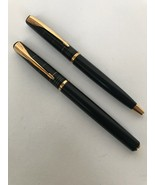Parker Fountain Pen And Ballpoint Pen SET Black And Gold - $206.76