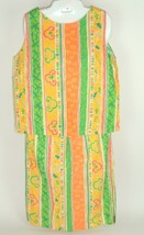 Vtg Mod 60's 70's 2 pc Handmade Skirt & Sleeveless top Small Med Bright ... - $26.95