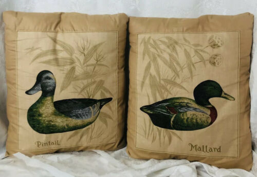 Primary image for Duck Throw Pillows Pair of 2 by Chateau Creatica Lookout Mntn TN Mallard Pintail