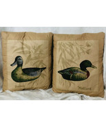 Duck Throw Pillows Pair of 2 by Chateau Creatica Lookout Mntn TN Mallard... - $32.18