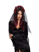 Dreamgirl Gothique Rose Crâne Voile Coiffe Halloween Accessoire Costume 11194 - $17.92