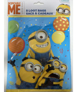 Despicable Me Minions Party Plastic Loot Goody Bags   8 Count - $3.99