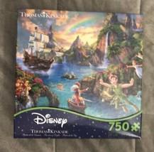 NEW Disney Dreams Thomas Kinkade 750 piece Jigsaw Puzzle Peter Pan's Nev... - $52.99