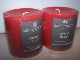 Lot of 2 Chesapeake Bay Candle Coral Reef Fragranced Candle 3 x 3 Mango ... - $14.99