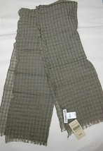 """Coldwater Creek Double Crincle Scarf Taupe 16"""" ... - $7.69"""