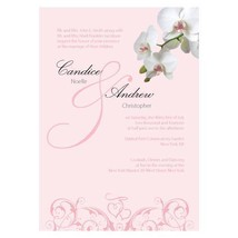 Classic Orchid Invitation (Pack of 1)  - $8.99