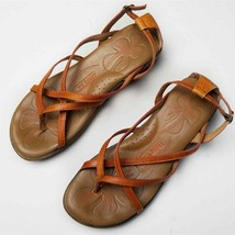 Born Savory Leather Strappy Sandals In Rust Women Size 8M/W - $28.50