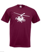 Mens T-Shirt Army Helicopter, War Machine Guns Shirts, Military Copter Shirt - $24.74