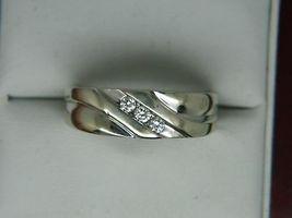 Men's 0.40 Ct Round Diamond Engagement Wedding Pinky Band Ring 14K White... - $97.89
