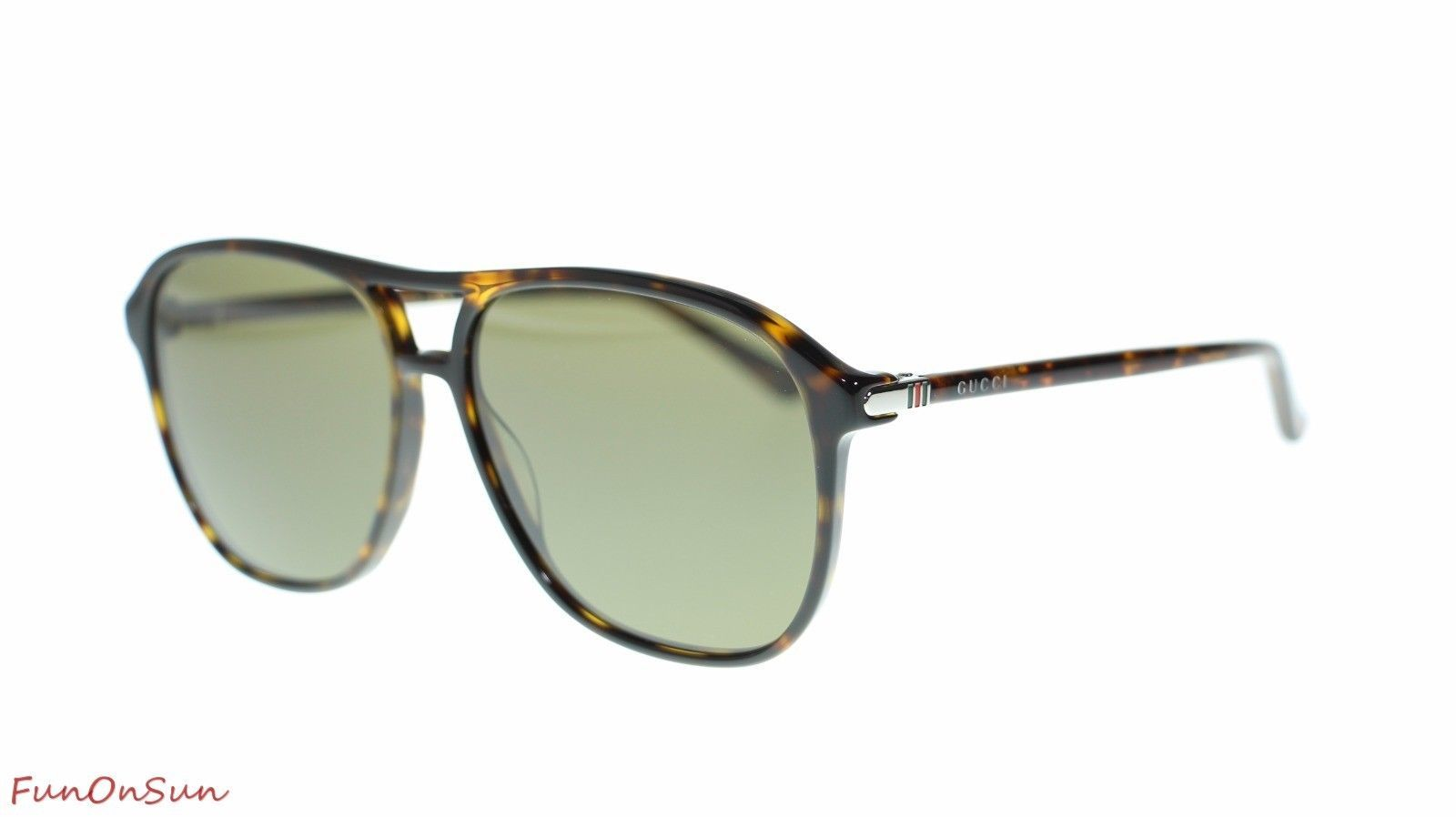 14f14a0bb6 10. 10. Previous. Gucci Men s Aviator Sunglasses GG0016S 003 Havana Brown Lens  Authentic 58mm