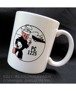 WW2 US Navy PC-1225 Mug Patrol Allied War Ship Porky Pig Anti-Nazi Alban... - $32.23