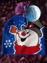 Frosty the Snowman Red White & Blue Pom Pom Hat Rare Brand New w Tags - $14.99